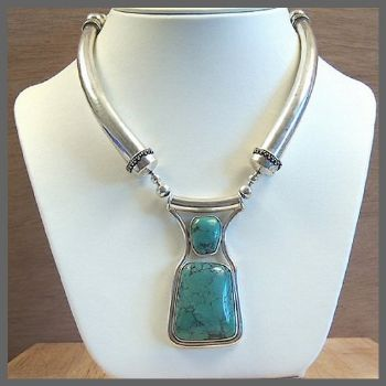 Traditional Indian Necklace with Turquoise
